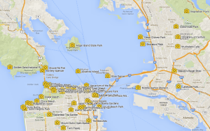 SF bay area photo map